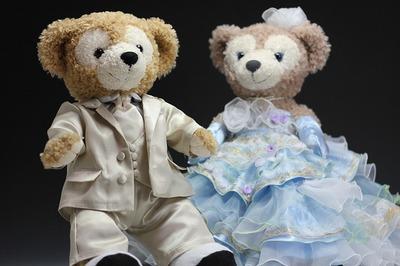 No384ダッフィーとシェリーメイのウェルカムドール、結婚式報告