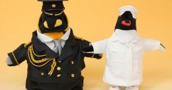 ペンギンのウェルカムドール正面