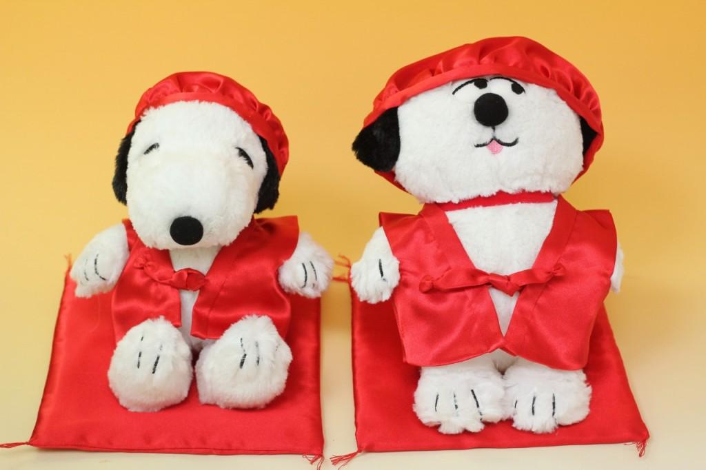 還暦祝い用 赤ちゃんちゃんこ(スヌーピー&犬)