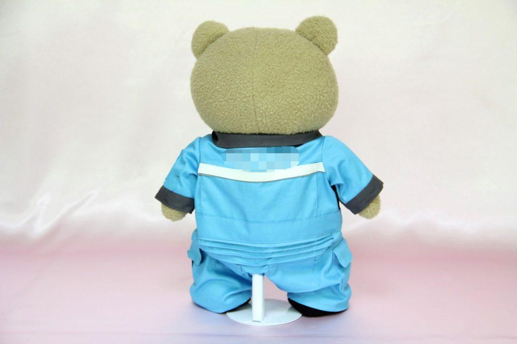 テッドのミニチュア制服後ろ